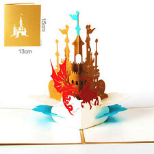 3D Pop Up Knight Castle Greeting Card Christmas Valentine Birthday Invitation