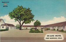 Vintage Postcard - De Luxe Motel - Fort Morgan Colorado