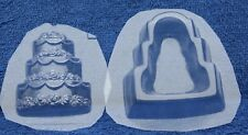 WEDDING TIER CAKE POUR BOX CHOCOLATE CANDY MOLD BRIDAL SHOWER FAVORS USED