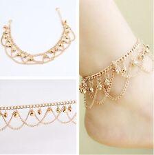 Dancing Bear Charm Bells Black Lace Hemp Anklet Macrame Handmade Ankle Bracelet Fast Color Anklets