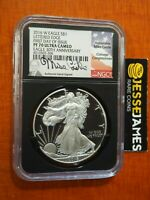 2016 W PROOF SILVER EAGLE NGC PF70 ULTRA CAMEO MIKE CASTLE FIRST DAY ISSUE FDOI