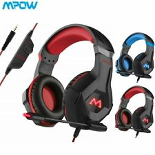 Mpow 3.5mm Gaming Headset MIC LED Headphones with MIC for PC Laptop PS4 Xbox One