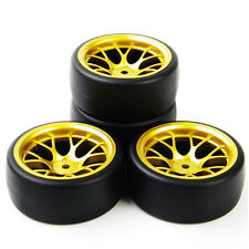 4Pcs PP Drift Tire Wheel Rims For HSP Racing HPI RC 1:10 On Road Car PP0477+ DHG