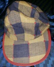 Vintage Patagonia 4 Panel Long Bill plaid multi color Cotton Hat Medium