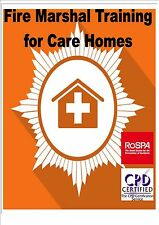 Fire Marshal for Care Homes Health & Safety online computer based E-learning
