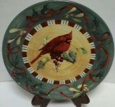Lenox Winter Greetings Everyday Cardinal Dinner Plate Catherine McClung 10.75""