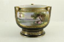 Vintage Noritake China Japan Hand Painted PORTRAIT Footed Urn Vase Water Floral