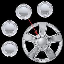"14-17 Silverado Tahoe Suburban 20"" CHROME Wheel Center Hub Caps 6 Lug Rim Covers"