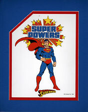 Super Powers SUPERMAN PRINT PROFESSIONALLY MATTED