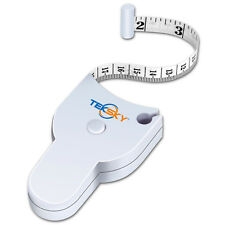 TekSky Easy Body Tape Measure  Retractable Body Fat Measuring Lock Pin Accurate