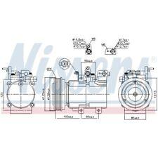 1 Kompressor, Klimaanlage NISSENS 89238 passend für HYUNDAI KIA