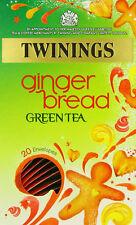 Pack of 4 Twinings Premium Gingerbread Green Tea Envelopes - Total 80 Teabags
