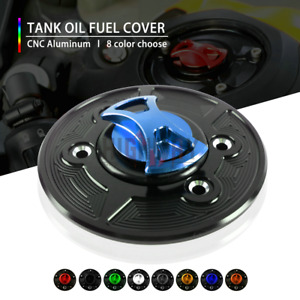 New Alu Tank Cover Gas Oil Fuel Keyless Caps FOR KAWASAKI Z650 / Z900 2017-2019