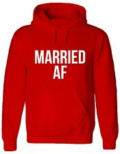 MARRIED AF, Couples, marriage, hubby, wifey, wedding, gift Jumper, Hoody, HOODIE