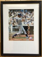GO CUBS! Ron Santo Chicago Cubs Signed Authentic Autographed & Framed 8x10 Photo