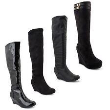 Women's Mid Heel (1.5-3 in.) Slip on Knee High Boots