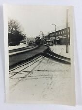 Vintage BW Real Photo #AS: Mystery Street: Snow: Bishops Store