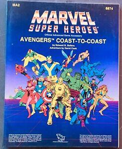 TSR MARVEL SUPER HEROES AVENGERS COAST TO COAST ADVANCED GAMEBOOK 6874 1986