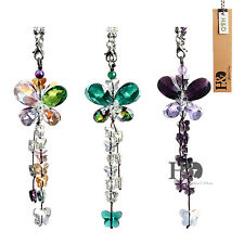 Hanging Rainbow Suncatchers Crystal Butterfly Prism Pendants Window Decor 3 Set