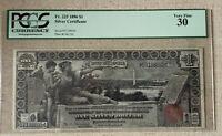 1896 $1 DOLLAR EDUCATIONAL SILVER CERTIFICATE, PCGS30 VF, BEAUTIFUL,  FOF