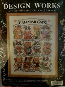 Design Works Calendar Cats. New Counted Cross Stitch