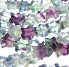 Rainbow Fluorite Gemstone Star Beads for Jewellery Making 50+ Size 8mm RSPCA