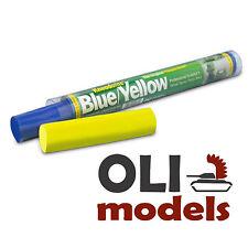 Kneadatite GREEN STUFF Blue/Yellow Two-Part Epoxy Putty Bars 100g 3.5oz - PSI 60