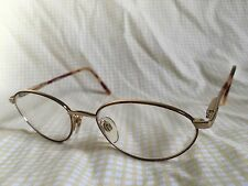 Vogue Gold and Tortoise RX Eyeglasses 52 18 135 Made in Italy