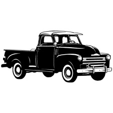Chevy Chevrolet 3100 Truck Clipart Vector Clip Art Graphics Dxf Svg Eps Ai Png