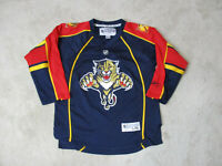 Reebok Florida Panthers Jersey Youth Extra Large Blue NHL Hockey Boys Kids