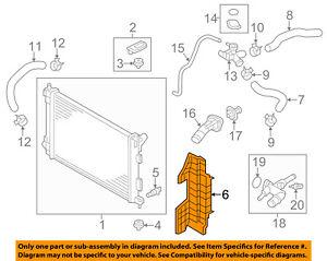 HYUNDAI OEM 11-13 Elantra 1.8L-L4 Radiator-Air Guide Left 291363X000