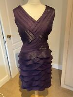 Adrianna Papell Designer Purple Evening Occasion Cocktail Party dress Size 12
