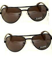 2 pair Foster Grant Adventurer Sunglasses Black Gray Lens Reduces Glare MSRP:$40