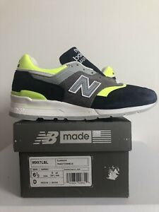 New Balance 997 Made In USA 'Blue LimeSize 6.5D (M997LBL) Brand New Made In USA