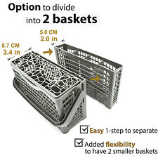 Universal Dishwasher Cutlery Basket 240mm X 140mm X 120mm Handle Fold Down W Lid