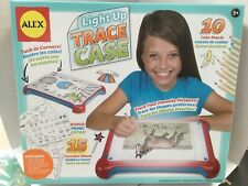 ALEX Light-up Tracing Pad Case Coloring Board Red/Blue KIDS FUN  5D Painting NEW