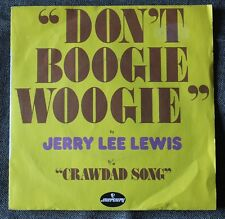 Jerry Lee Lewis, don't boogi woodie / crawdad song, SP - 45 tours  France