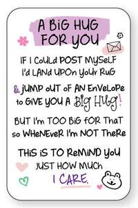 A BIG HUG FOR YOU WALLET CARD INSPIRED WORDS Verse Keepsake Sentimental Gift💕