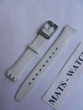 Swatch + cuero/Leather-Band + Lady + ayss 267 smoothly White + nuevo/new