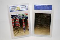 WORLD TRADE CENTER 9/11 Anniversary 2002 Gold Card Patriotic Graded GEM MINT 10