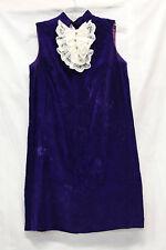 Velours Royal Womens Dress Vintage 1960s Velvet Purple Good Used Condition 2103