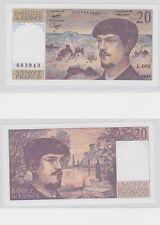 GERTBROLEN  20 FRANCS ( DEBUSSY ) de 1980  L.002 Billet N°  0035663943