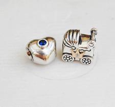 Genuine Pandora Royal Wedding + Baby Charms 790875SSB 791209CZ - retired