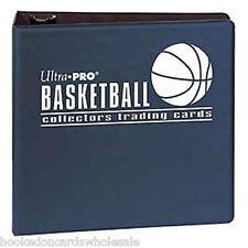 "Ultra Pro 3"" Blue Basketball Card Album & 50 Ultra Pro Platinum 9 Pocket Pages"