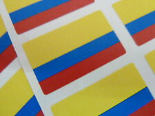 Mini Sticker Pack, Self-Adhesive Colombia Flag Labels, FR97