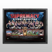 SYDNEY ROOSTERS 2013 NRL PREMIERSHIP TEAM LIMITED EDITION FRAMED OFFICIAL PRINT