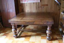 Table de ferme ancienne en chêne, plateau à barreaux, 148 X 121