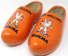 Hup Holland Bokma Wood Clogs Shoe Orange Lion Very rare HTF