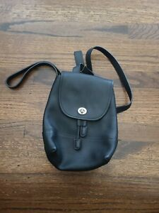 COACH 9960 Black Leather Small Daypack Backpack F09960 - See Details
