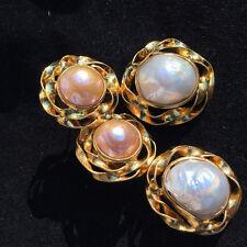 Zuchtperl Ohrhänger barock AUSGEFALLENES DESIGN  Silber vergoldet 46x22 mm WOW